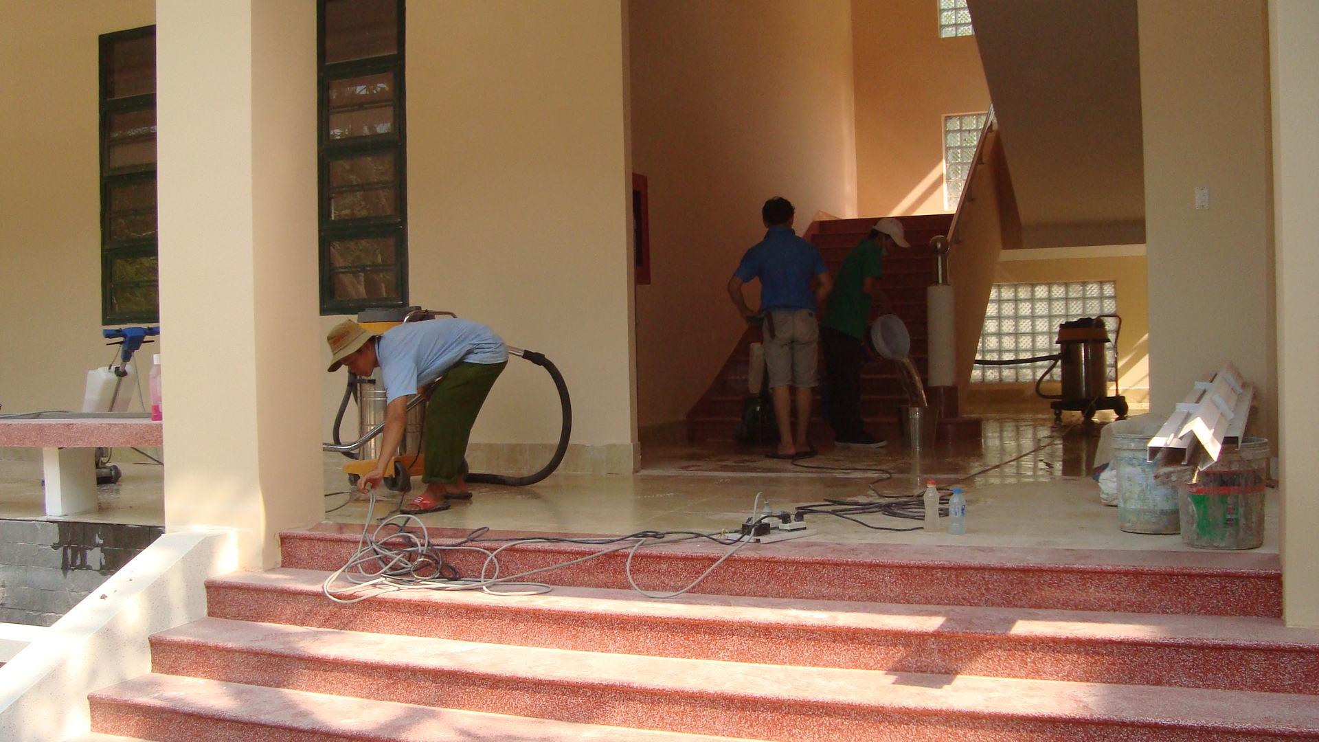 vệ sinh sau xây dựng tại hà nội